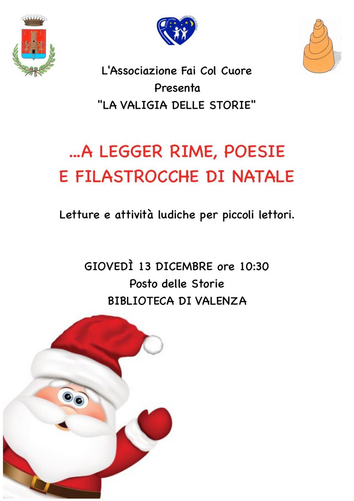 Poesie Di Natale In Rima.Letture Natalizie Per Bambini A Legger Rime Poesie E Filastrocche Di Natale Citta Di Valenza